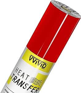 VVIViD V2 专业 HTV 传热膜熨烫乙烯卷 红色 150ft x 12in newv2htv_red150