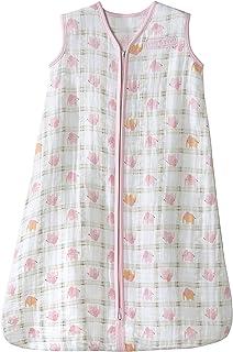 HALO 赫拉 婴儿睡袋 双层纱棉 印花背心式 粉色大象 XL(18-24个月) 春夏薄款