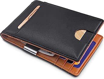 卡片夹超薄前口袋钱包 ID 窗卡套钱包 带 RFID 屏蔽卡包 极简主义