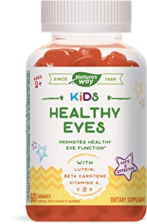 NATURE'S WAY 儿童健康眼睛软糖 含叶黄素和β-胡萝卜素 2岁以上 热带水果口味 60粒
