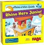 HABA 305912 我的*款游戏,犀牛英雄少年(Rhino Hero Junior),适合2岁以上儿童的游戏,德国制…