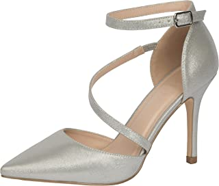 Cambridge Select 女士封闭尖头交叉细高跟鞋