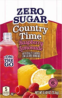 Country Time Sugar Free On The Go Raspberry Lemonade, 0.48 Ounce (Pack of 12)
