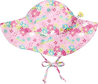 I PLAY BABY 女童 BRIM 遮阳帽 Light Pink Dragonfly Floral 2T/4T Brim Sun Protection Hat