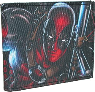 "Buckle-Down Marvel Universe 帆布双折钱包 - Deadpool Action Po 配件 ""Multi"" One Size"