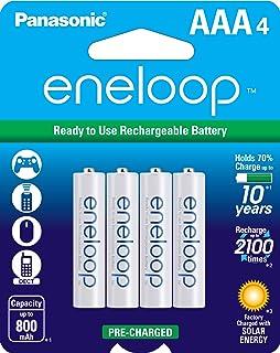 Panasonic 松下电器 BK-4MCCA4BA eneloop AAA 2100循环镍氢预充电充电电池,一包4个