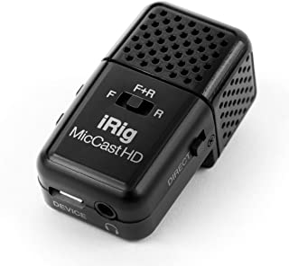 IK Multimedia iRig Mic Cast HD | 适用于 iPhone、iPad 和 Android 的双面数字语音麦克风