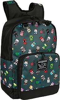 JINX 我的世界摇头怪队儿童书包,灰色,17 英寸(约 43.2 厘米)