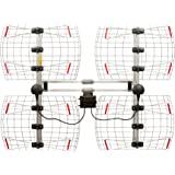 Antennas Direct 8元素 Bowtie电视天线,70英里范围(约112.65公里),多向,室内,阁楼,室外…