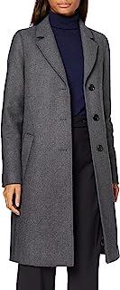 HUGO BOSS 女士 C_coluise 羊毛混纺大衣