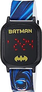 DC Comics 男童触摸屏手表,带塑料表带,多色,15(型号:BAT4765AZ)