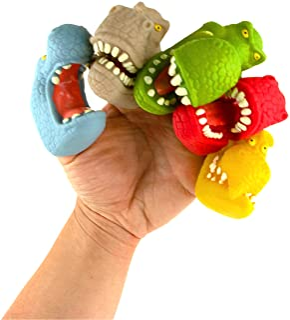 Boley 恐龙手指木偶 – 12 件装小恐龙手偶,适合幼儿、儿童和成人 – 卡通恐龙手指木偶套装