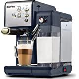 Breville 一键式咖啡机   浓缩咖啡、卡布奇诺和拿铁机   19 巴意大利泵   自动奶泡机   兼容 ESE…