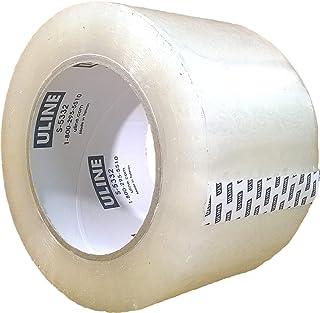 Uline 透明 2 密耳工业胶带,4 卷,1 X 7.62 X 304.8 厘米