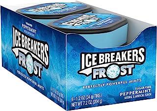 Ice Breakers Mints 无味润喉薄荷糖,散装,1.2盎司,34克,罐装(6罐)