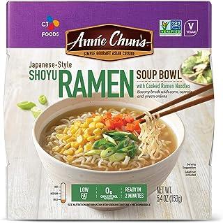 Annie Chun's Shoyu Ramen Noodle Bowl   Non-GMO, Vegan, Shelf-Stable (Pack Of 6)   Japanese-Style Healthier Ready Meal
