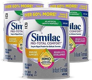 Similac 雅培 Pro-Total Comfort 婴幼儿配方奶粉 OPTI-GRO,温和配方,含 2'-FL HMO,婴儿配方奶粉,36 盎司(1.02kg), 3罐装 (新老包装交替发货)