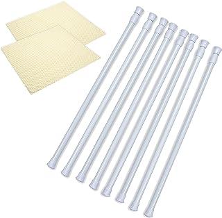 Danily 8 只装纸板条可调节弹簧窗帘张力杆 39.88 至 71.12 厘米,随附防滑支架衬