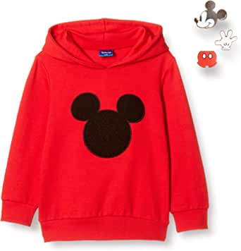 Disney 迪士尼 米奇 带徽章连帽运动衫 男孩