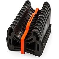 Camco 20 英尺,约6.09米 (43051) 侧拉机 RV 下水道软管支撑架,由坚固的轻质塑料制成,不会堵塞,固…