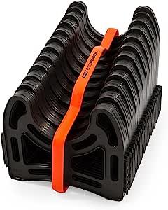 Camco 20 英尺,约6.09米 (43051) 侧拉机 RV 下水道软管支撑架,由坚固的轻质塑料制成,不会堵塞,固定软管 - 无需肩带