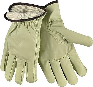 MCR Safety 3280L 工业级粒面牛皮驾驶手套,带保暖衬里钥匙石拇指,奶油色,大号,1 对,1 对