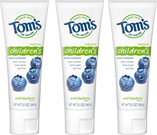 Tom's of Maine 天然儿童牙膏,蓝莓味,3支装