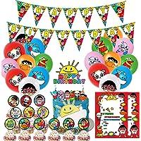 Nelton 生日派对用品适用于 Ryans Toy World 包括横幅 - 蛋糕装饰 - 24 个蛋糕装饰 - 18…
