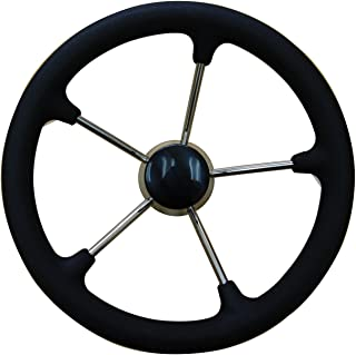 uflex USA Inc. V48BFC 方向盘带黑色外壳,34.29 厘米