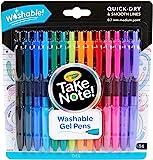 Crayola 绘儿乐 中性笔适合儿童和成人着色,可水洗中号笔尖,14支