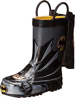 Western Chief Kids' Waterproof D.c. Comics Character Rain Boots Easy on Handles US