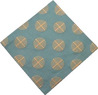 Syusai 修房 古帛纱 深绿 尺寸:长15.6x宽15x厚0.2cm 真丝 唐松