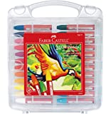 Faber-Castell 辉柏嘉 可混合油蜡笔 耐用储存盒 - 24 种鲜艳颜色 - *蜡笔 适合儿童