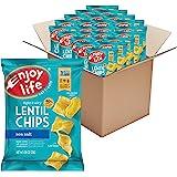 Enjoy Life 扁豆薯片 无大豆/无坚果/无麸质/无乳制品 素食 海盐味 0.80盎司(22克)袋/(24袋)