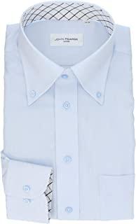 [科纳卡] 男士衬衫 人气领口内衬面料使用设计衬衫比普通衬衫更耐脏(油污・皮脂污) 超群的防污 护油(防污) 衬衫纽扣领 萨克斯系 SP_Y
