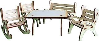 Petra's Craft News A Table GMH08FS2,包含 1 x 1 x 1 x 摇椅花园长椅和 2 把椅 - 5 件