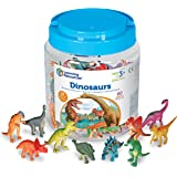 Learning Resources 恐龙计数组件,60个彩色恐龙,精细运动恐龙玩具,适合3岁以上
