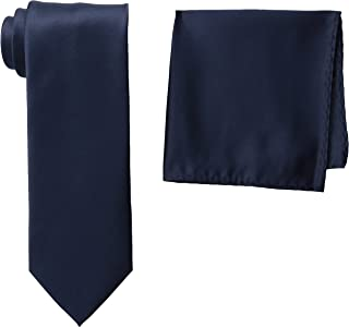 Stacy Adams 男式缎面纯色领带套装 robin 蓝 One Size