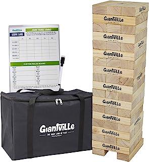 巨型翻滚木玩具 - 巨型木制积木地板游戏 适合儿童和成人 Jumbo - 56Pcs w/Bag