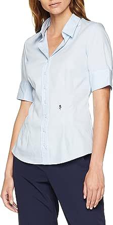 Seidensticker 女式 Hemdbluse Kurzarm 修身 Uni Bügelfrei 衬衫
