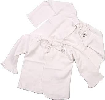 Liegelind 17110005001 - 婴儿衬衫,2 件,长袖,颜色:白色