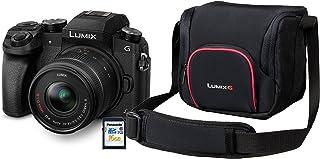 Panasonic 松下 Lumix G70KA 入门套件 16 MP,4K 视频,7.5 cm (3 英寸) 触摸屏,WiFi,NFC (包括 16 GB SD 卡和口袋)