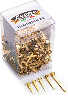 150 克(大约382 件)黄铜样品夹,按颜色分类 狮子 Dell'Era 编号 3-4-5-6-8 - 透明罐装。