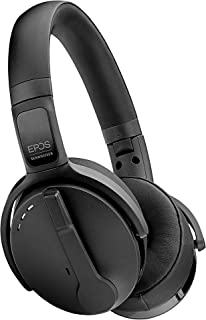 EPOS | SENNHEISER Adapt 560 (1000207) - 双面,双连接,无线蓝牙,ANC 头戴式耳机 | 小巧可折叠 Boom 麦克风 | 适用于手机和软电话 | 团队认证(黑色)