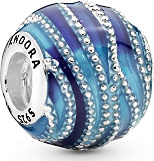 [PANDORA ] PANDORA Blue Swirls 饰品 (银色) 正规进口商品 797012ENMX