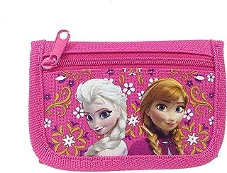 Disney 冰雪奇缘艾莎和安娜三折儿童钱包 桃红色