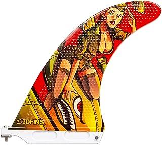 3DFINS 高性能长板脚蹼 GOHARD 系列,经典底座 7 英寸(约 17.2 厘米)单鳍,适用于 SUP 板和长板 - 凹陷技术,更多速度更多驱动