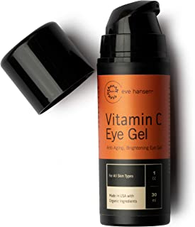 Eve Hansen 出品的维生素 C 眼霜 - 为黑眼圈、浮肿和皱纹提供防护 1 盎司。