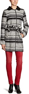 VILA CLOTHES 女式经典长款 - 常规外套 Multicoloured - Mehrfarbig (Off White / Combo) 8