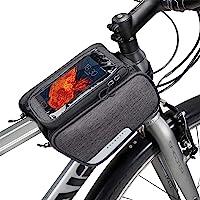 Winkeyes 自行车框架包顶管,前袋,自行车车把包户外自行车包包包存储适用于 IPhone X 钱包钥匙零食太阳镜…